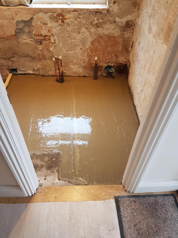 Image 6 - Bathroom floor screed completed