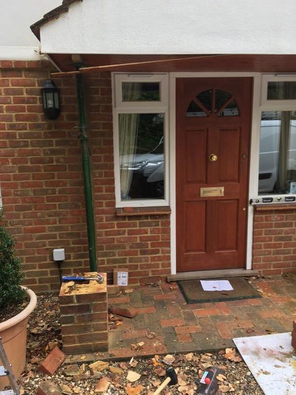 Image 53 - porch rebuilt and new brick work