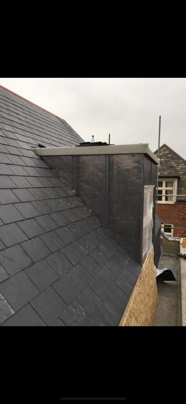Image 25 - Natural slates with lead dorma cheeks and Grp top
