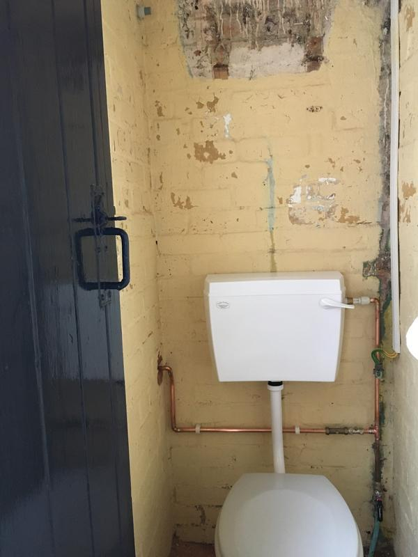 Image 52 - A high level cistern replaced for a low level with a outside tap fitted
