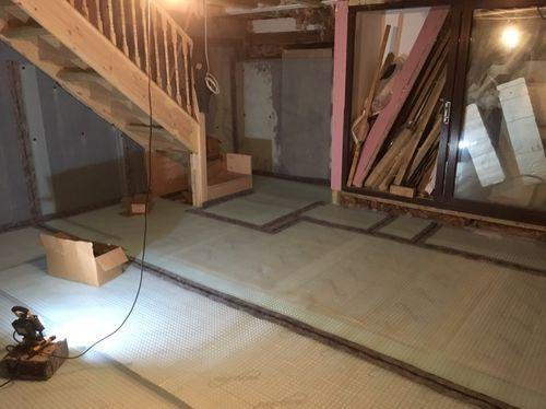 Image 18 - Floor membrane over insulation, ready to receive screed floor by clients own builders