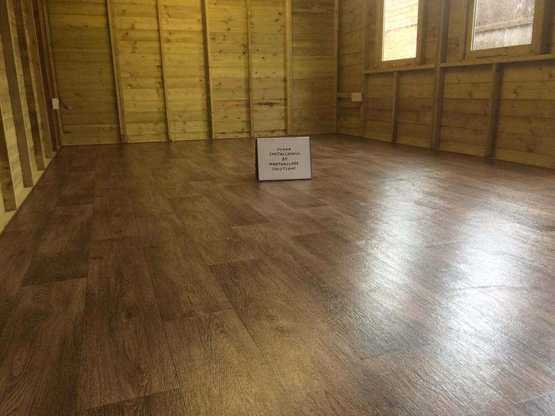 Image 5 - Property in Woolwich. Vinyl floor to 30m2 shed. Completed February 2020.