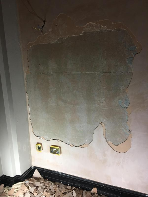 Image 1 - Plastering was done to a very poor Standard the Preparation Was not right. The plaster cracked and blow off the wall had to Chop off the reminding plaster and Use Bond it to make the plaster stick to the wall