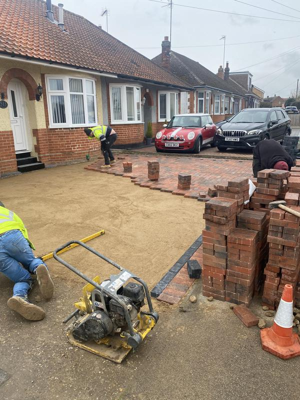 Image 38 - Block pave driveway in process of being laid