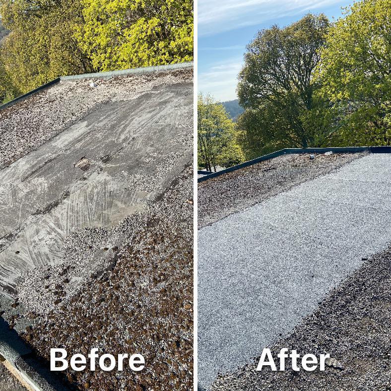 Image 6 - New felt roof put down