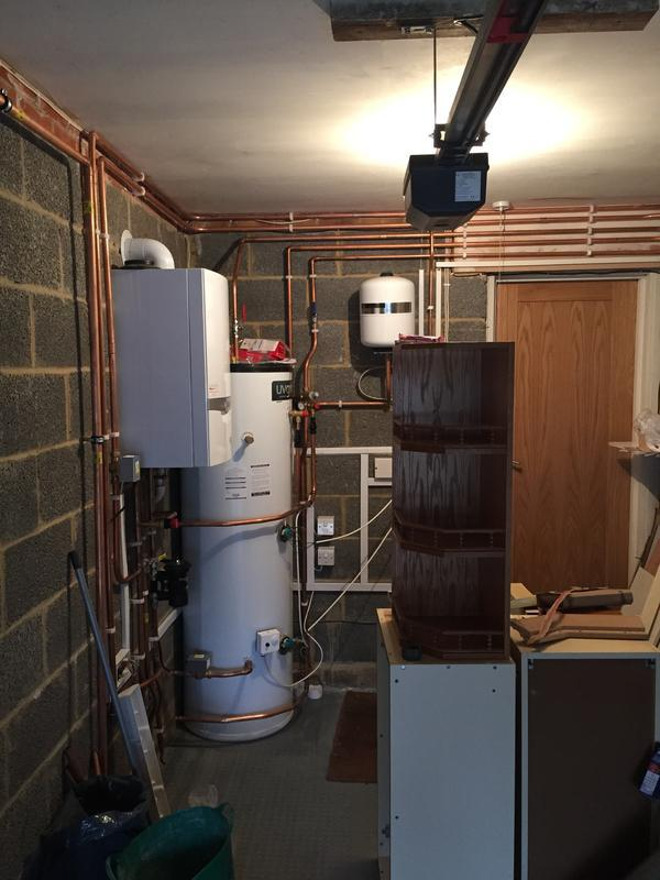 Image 13 - Un-vented cylinder and boiler installation