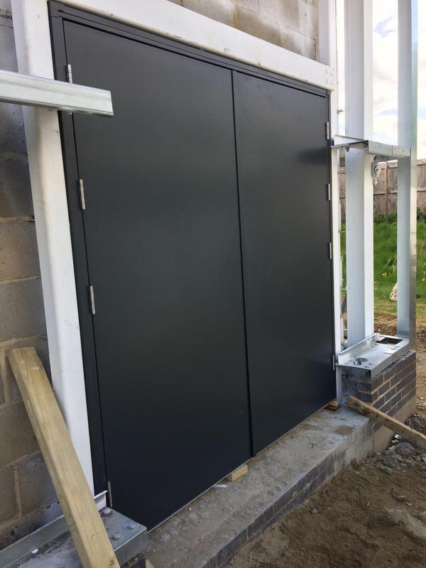 Image 22 - Double Steel door set