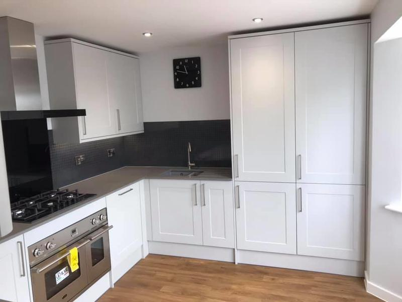 Image 14 - Customer 0128: So nice to see happy customers when you show them their finished kitchen. We can organise your kitchen from planning to competition so their is no stress on you.