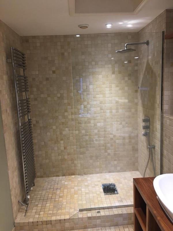 Image 12 - A  downstairs shower room to accommodate three rugby playing sons for this customer.