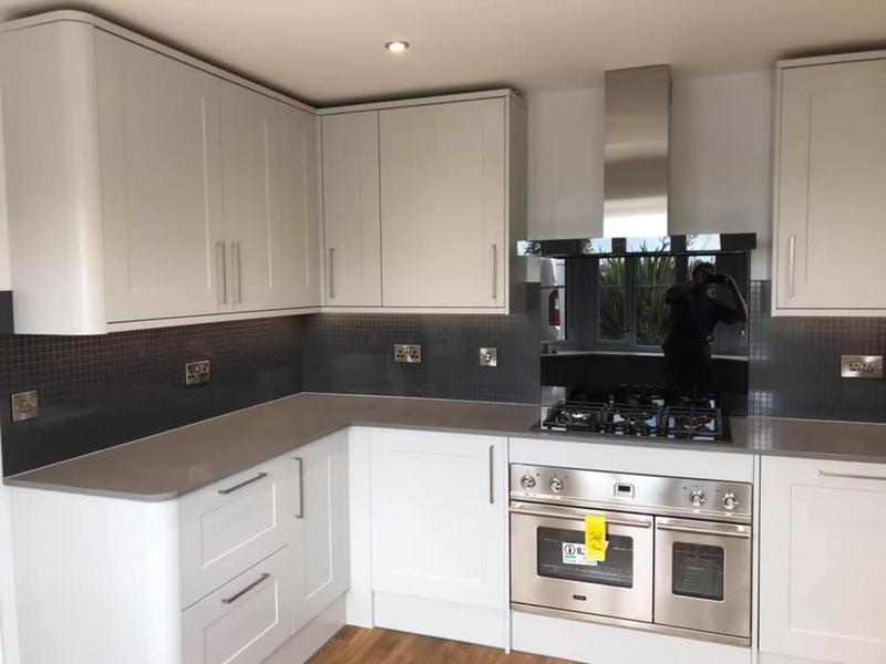 Image 13 - Customer 0128: So nice to see happy customers when you show them their finished kitchen. We can organise your kitchen from planning to competition so their is no stress on you.