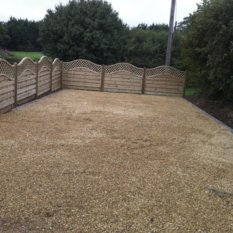 Image 27 - We built a driveway section to house a couple of cars and fences around it with continental panels