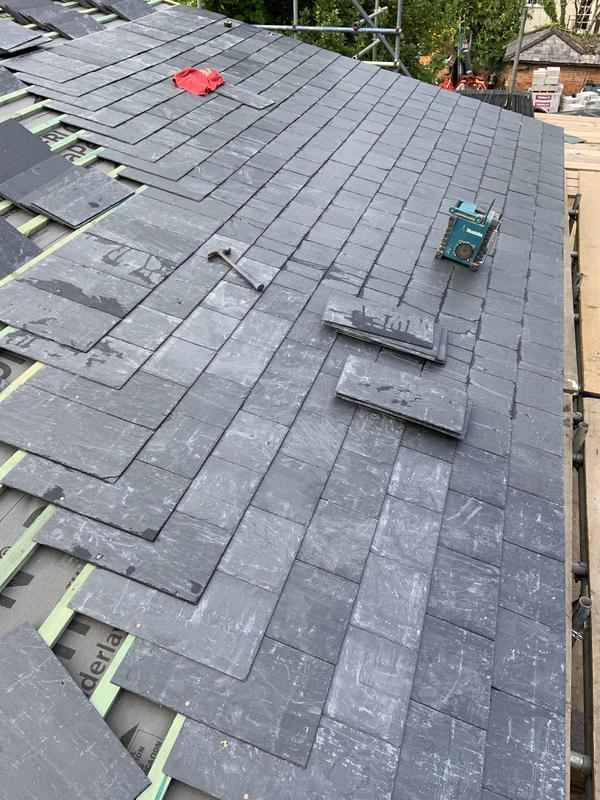 Image 44 - Works being carried out Spanish slate roof in Maidenhead