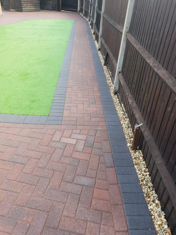 Image 4 - Block paving patio with artificial grass in Farnborough