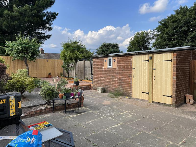 Image 11 - As you see here the after photo of the transformed photo of the customers garage/shed, she was so pleased with the outcome.
