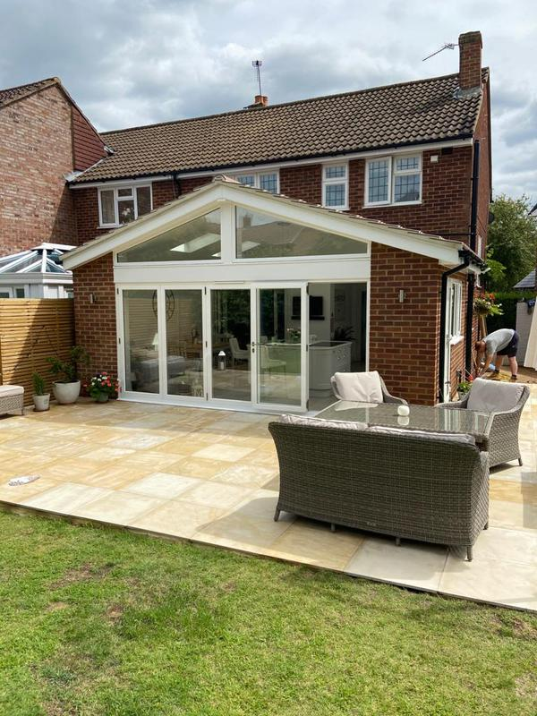 Image 11 - New patio added following completion of extension.