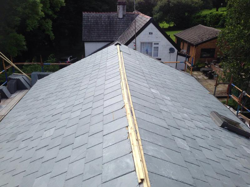 Image 12 - Roofing slate new roof.