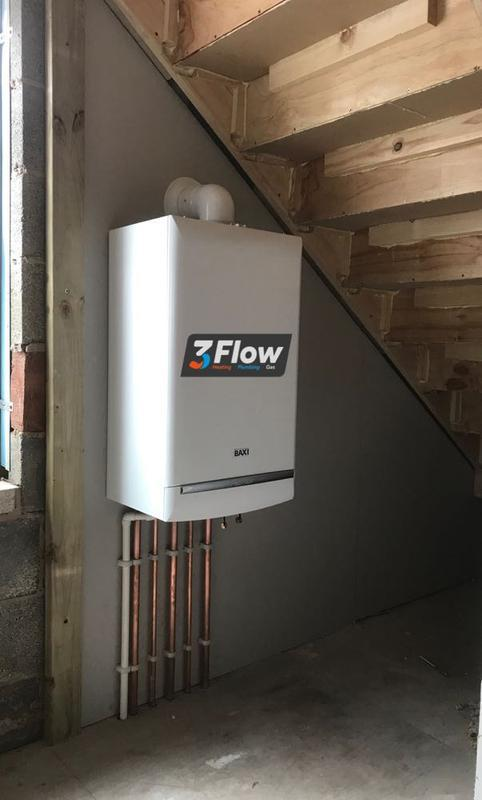 Image 12 - new baxi combi boiler in new build apartment