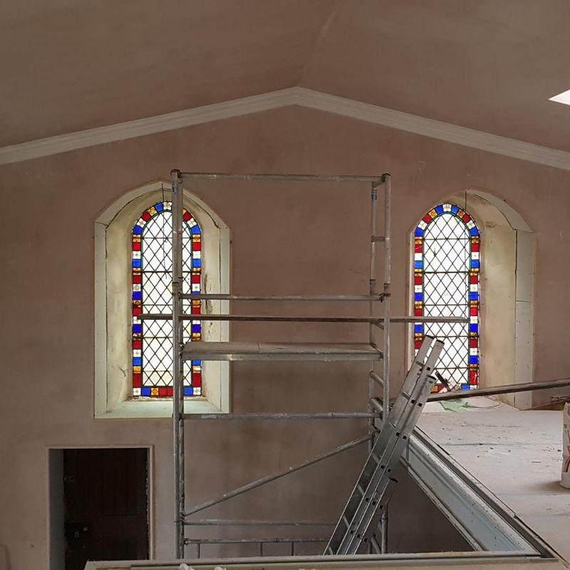 Image 24 - A photo that shows hard work in progress! We had to restore this 1600'th centuary church back to its original state. More photos to come of this fantastic project.