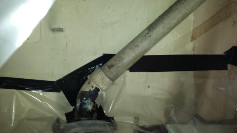 Image 32 - Asbestos Boiler Flue Removal - DURING