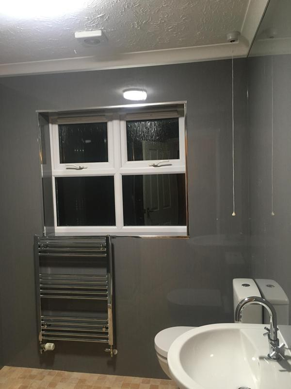 Image 18 - Room fully boarded and new basin, shower tray, toilet, towel radiator fitted