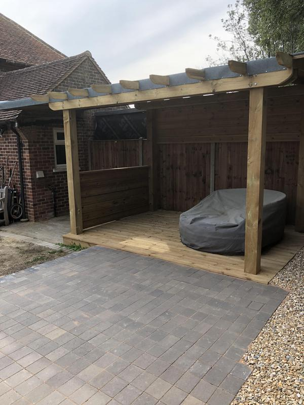 Image 32 - As above, a covered, waterproof pergola and deck & patio