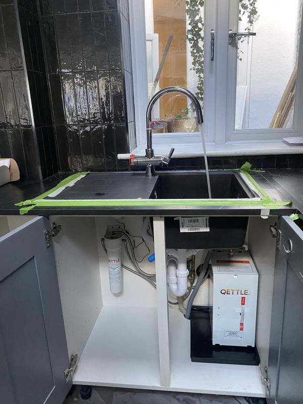 Image 15 - New worktop, sink and 4 in 1 boiling water tap 👌#handygentlemen #plumbing #handyman #Clapham #brixton
