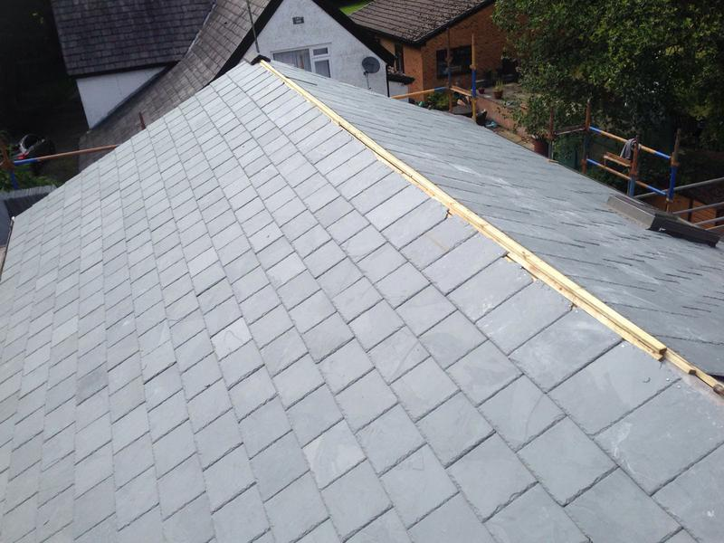 Image 7 - Slate roofing, ready for the dry ridge system.