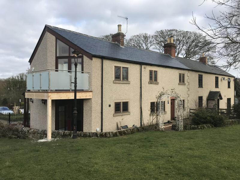 Image 12 - We love before and afters. Double-storey extension done by us in Lower Heartshay. Our costumers are over the moon, especially because they can now relax and enjoy the view from their balcony. We completed the side extension as well as the slate roofing , porch, patio and balcony.