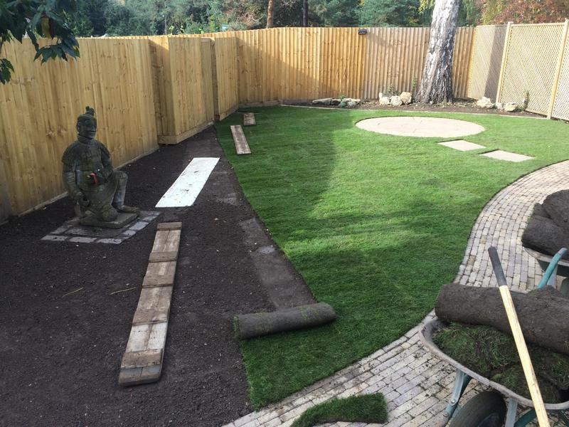 Image 7 - During new real turf lawn install warwick