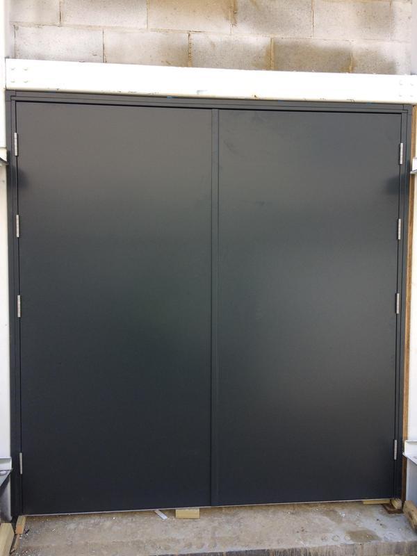 Image 23 - Double Steel door set