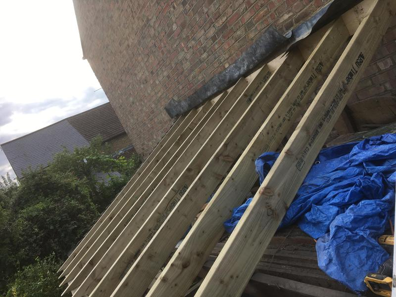Image 7 - New rafters installed on side extension in Walthamstow