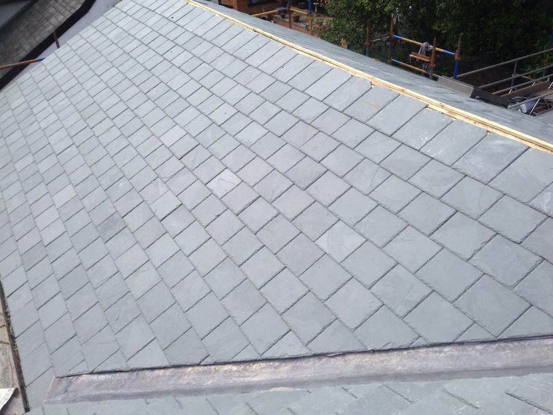 Image 6 - New slate Roof, new lead valley.
