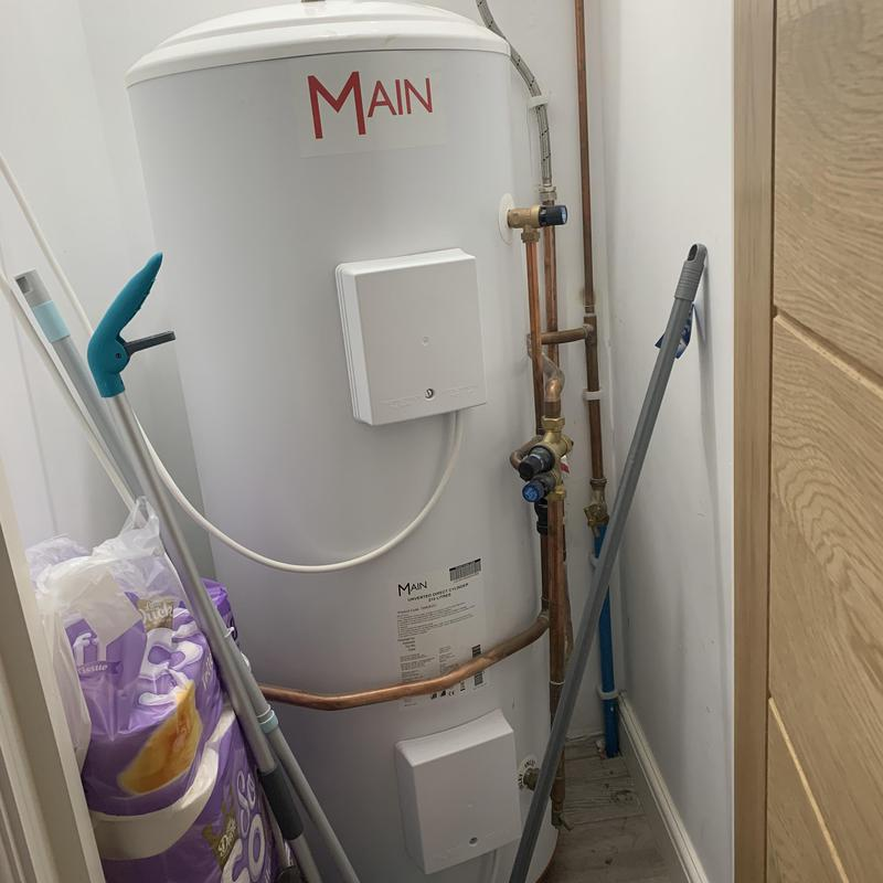 Image 3 - New Main hot water Cylinder in High Wycome. Jan 2021