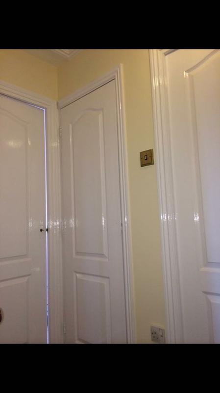 Image 45 - lemon walls with satin doors and frames