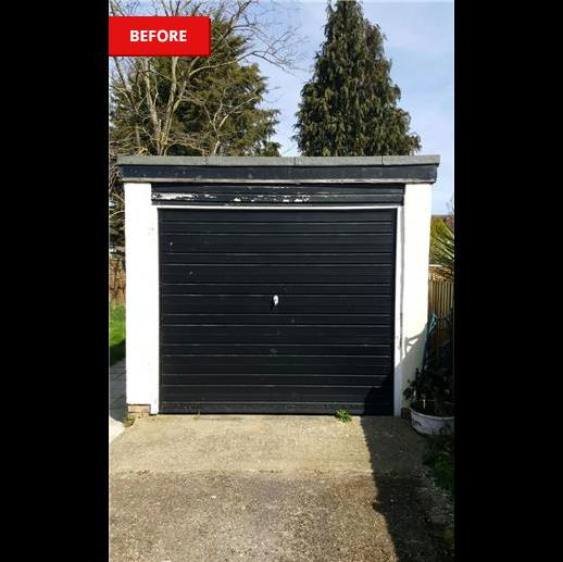 Image 140 - Before works carried out to redecorate garage door and surround