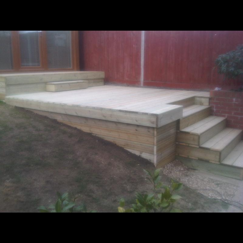 Image 23 - A customer needed access to a garden office in a very steep garden, this is what we came up with