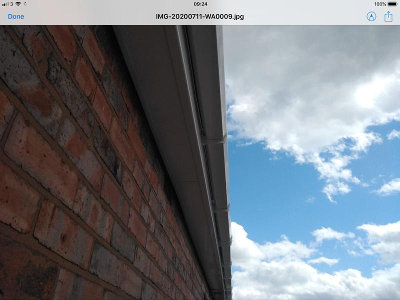 Image 134 - A closer look of the side of the house were we fitted fascia and soffit.