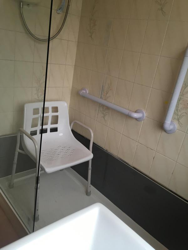 Image 22 - Bath out. Shower tray in and boarded where they wasn't any tiles.
