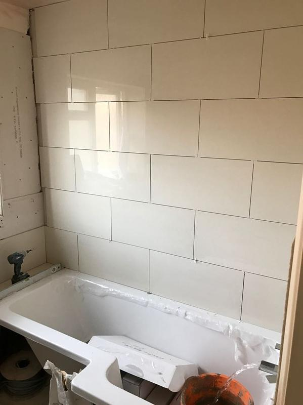 Image 38 - tiling on its way