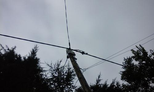 Image 16 - Overhead cables after