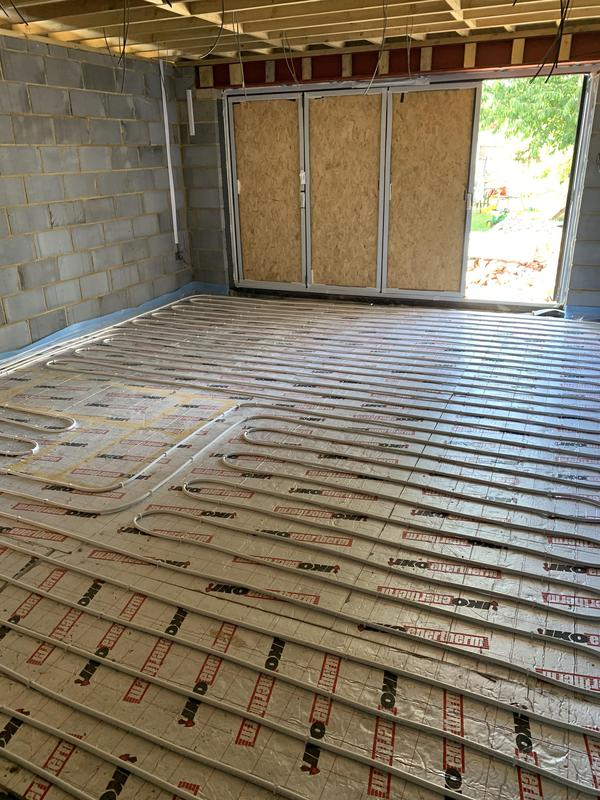Image 14 - Underfloor heating system for a open plan kitchen / dinning room.