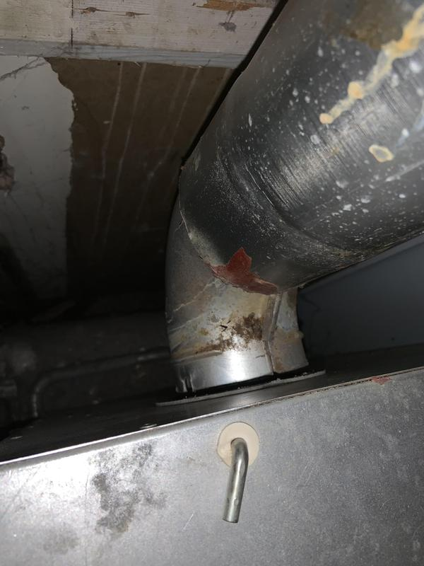 Image 24 - A perfect example of why you should get your gas appliances checked every year.... This flue has become completely detached from the boiler and was spilling dangerous fumes into the room.