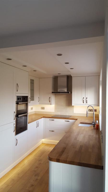 Image 19 - Wren kitchen installation with solid oak worktop with undermount sink