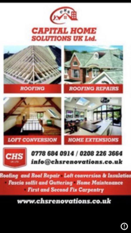 Capital Home Solutions t/a CHS UK Carpentry and Roofing logo