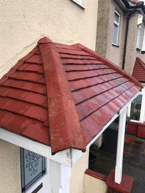 Image 16 - Porch roof after cleaning