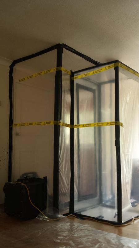 Image 31 - Asbestos Boiler Flue Removal - DURING