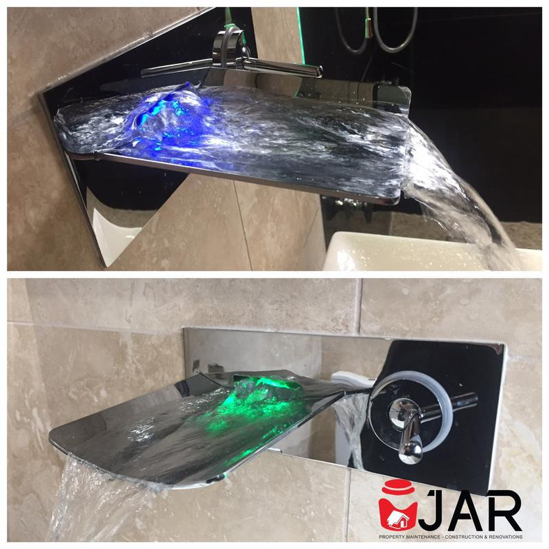 Image 8 - Wall mounted waterfall tap - Changes colour depending on the water temperature!