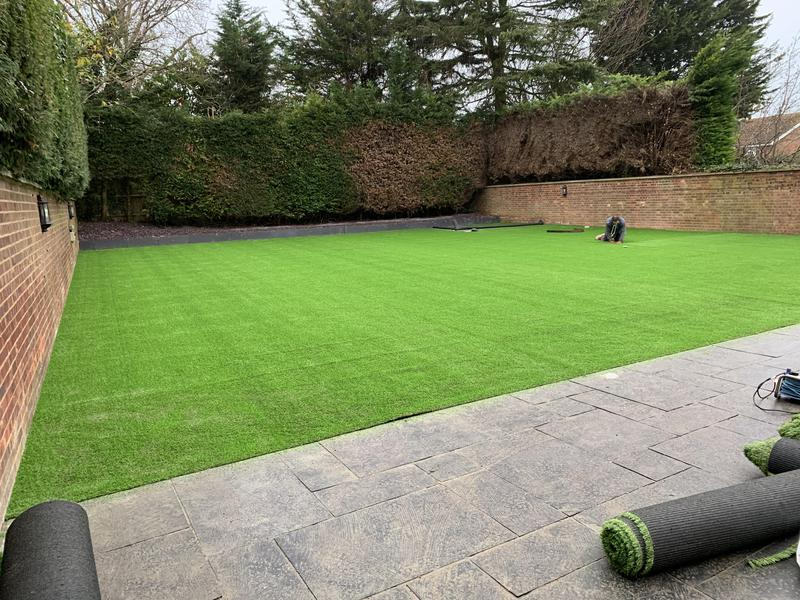 Image 34 - finished garden with artificial grass