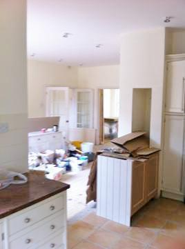 Image 1 - Open plan kitchen dinning room plastering and painting decorating