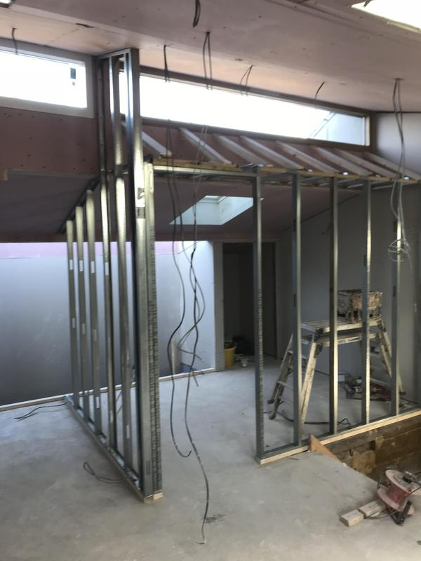 Image 34 - Metal stud walls